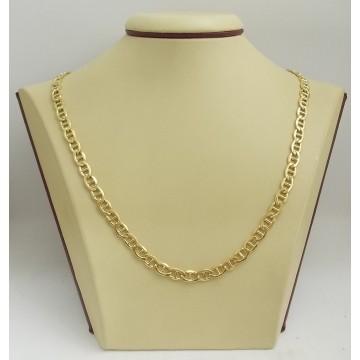Златна унисекс верижка жълто злато плетка марина 2687