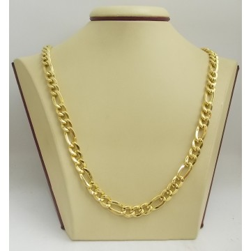 Златна унисекс верижка жълто злато плетка картие 2688