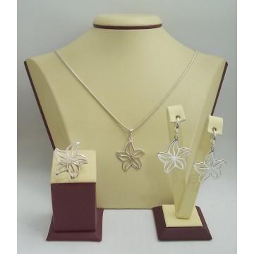 Дамски сребърен комплект Сребърни Цветя 2723