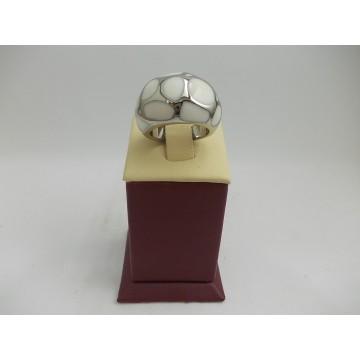 Стоманен пръстен бяла стомана 2733
