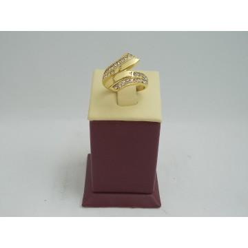 Стоманен пръстен с бели камъни 2741