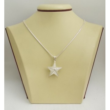 Дамски сребърен медальон звезда 2879