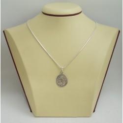 Сребърен медальон Богородица тъмно сребро 2884