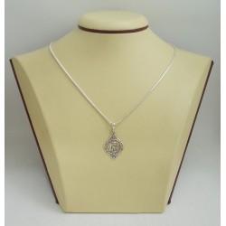 Сребърен медальон Богородица тъмно сребро 2885