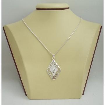 Сребърна висулка Богородица 2895