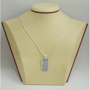 Сребърен медальон плочка с гравюра 2912