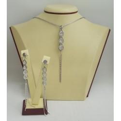 Стоманен комплект бяла стомана и камъни 2939