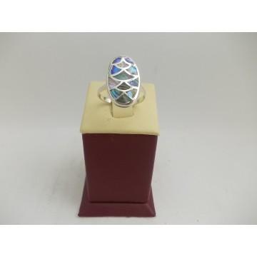 РАЗПРОДАЖБА -50% Сребърен седефен пръстен 2986