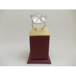 РАЗПРОДАЖБА -34% Сребърен пръстен с бял камък 2993