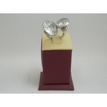 РАЗПРОДАЖБА -29% Сребърен пръстен с бели циркони 2997