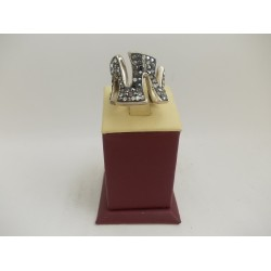 РАЗПРОДАЖБА -35% Сребърен пръстен с камъни 3003