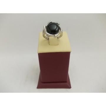 РАЗПРОДАЖБА -22% Сребърен пръстен с черен камък 3008