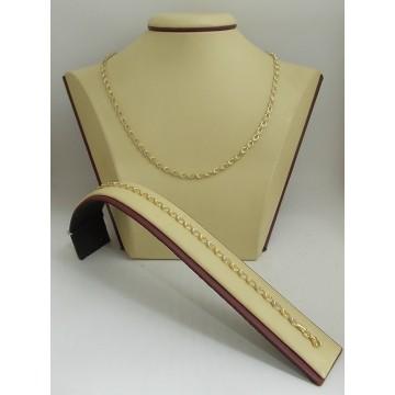 Дамски златен комплект бяло жълто злато 3191