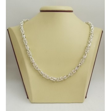 Сребърен дамски ланец тип кралска плетка 3210