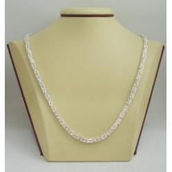 Сребърен дамски ланец кралска плетка квадратна 3213