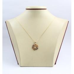 Дамско златно колие с медальон от сърца 3391