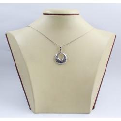 Дамски сребърен медальон от тъмно сребро 3444