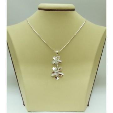 Дамски сребърен медальон Флорисимо