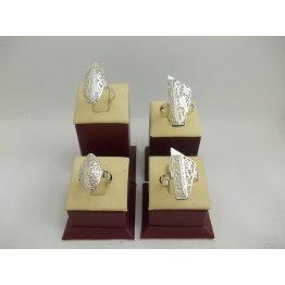 Комплект Класик Ретро - дамски сребърни пръстени пиано и бадем