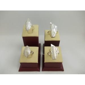 Комплект Класик - дамски сребърни пръстени пиано и бадем