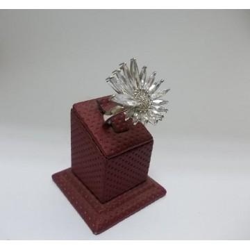 РАЗПРОДАЖБА -30% Дамски сребърен пръстен - Кристално Цвете