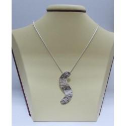 Сребърен медальон - Абстракт