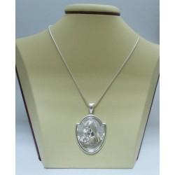 Сребърен медальон - Богородица