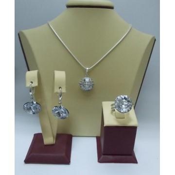 Сребърен комплект със Swarovski Elements Crystal