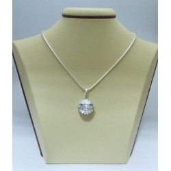 Сребърен медальон със Swarovski Elements Crystal