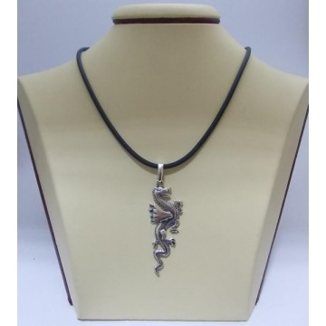 Сребърен медальон - Дракон