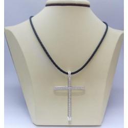 Сребърен дамски кръст Мария