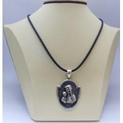 Сребърен дамски медальон Богородица