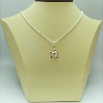 Дамски сребърен медальон - Розова Прелест