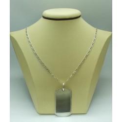 Дамски сребърен медальон плочка