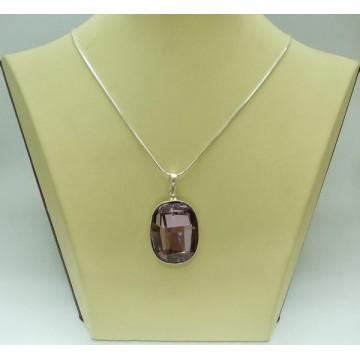 Сребърен дамски медальон със Swarovski Elements Лила
