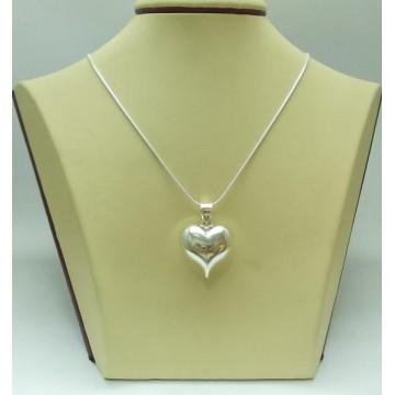 Дамски сребърен медальон Сърце