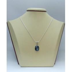Сребърен дамски медальон със Swarovski Elements Океански Дълбини