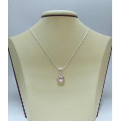 Сребърен дамски медальон със Swarovski Elements Розалин