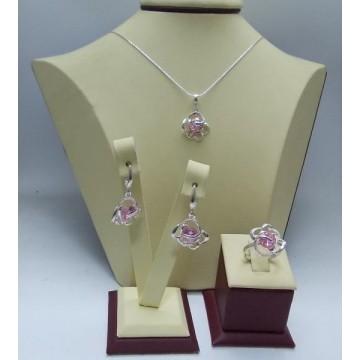 Дамски сребърен комплект Роза Розе