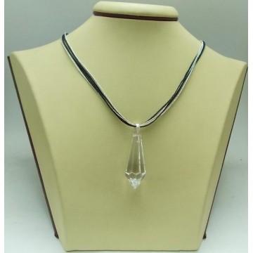 Дамски сребърен медальон Кристал Swarovski