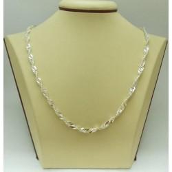 Сребърна женска верижка - Туистър