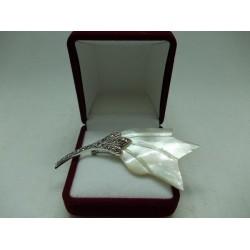 Сребърна брошка - Седефено Лале