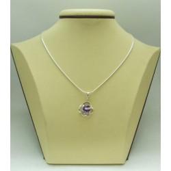 Дамски сребърен медальон Роза Лила