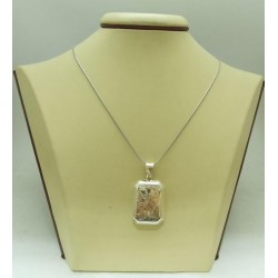Дамски сребърен отварящ се медальон