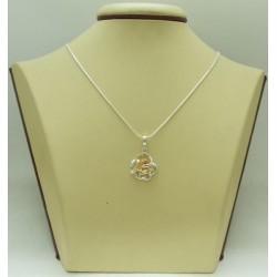 Дамски сребърен медальон Роза Шампанско