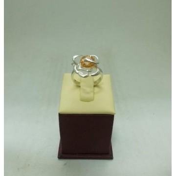 Дамски сребърен пръстен Роза Шампанско
