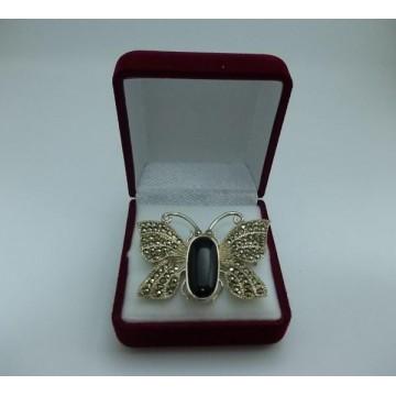 Сребърна брошка - Пеперуда