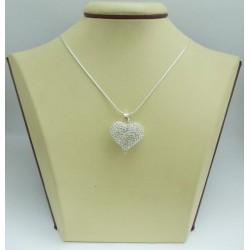 Дамски сребърен медальон Снежно Сърце