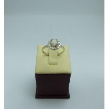 Дамски сребърен годежен пръстен 2
