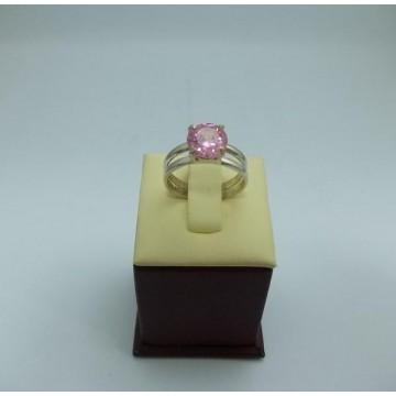 Дамски сребърен годежен пръстен 6